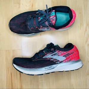 Brooks black and pink woman's running shoes